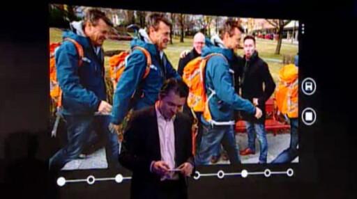 SMART CAMERA: Nokias nye kamera-app lar deg for eksempel sette sammen flere bilder på denne måten.  Foto: Nokia