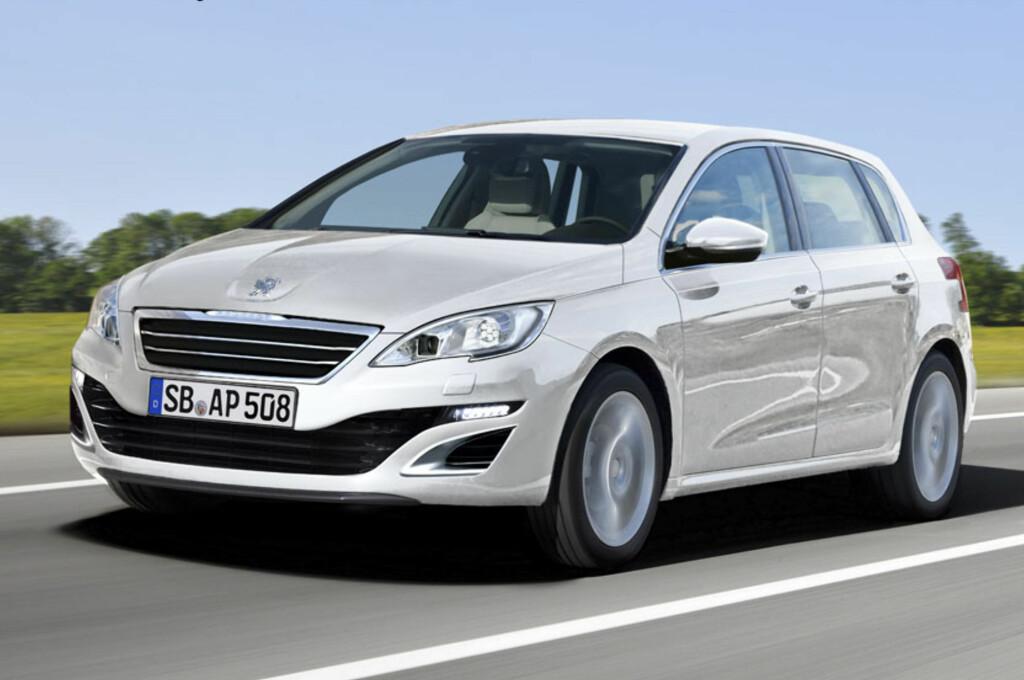 I Frankfurt til høsten - eller i Genève våren 2014 - kommer etter all sannsynlighet Peugeot til å avduke sin nye VW Golf-konkurrent. Den vil få navnet 308, som forgjengeren - noe som markerer slutten på en æra for det tradisjonsrike franske merket. Foto: Automedia