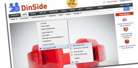 image: Lag PDF-filer av nettsider