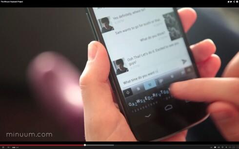 Minuum er tastaturet som tar opp mindre plass på skjermen. Kommer snart til Android.
