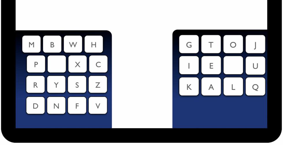 Slik ser et KALQ-tastatur ut.