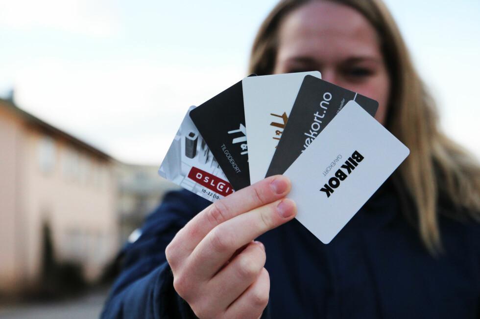 Tradisjonelle og elektroniske gavekort er gyldige i tre år hvis ikke annet er opplyst. Foto: ANN KRISTIN ANDREASSEN