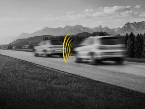 Euro NCAP vil fra neste år ta hensyn til hvorvidt biler har autobrems i sin poengvurdering Foto: Euro NCAP