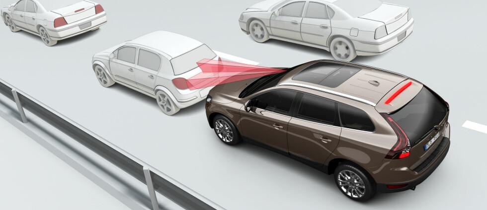 Volvo har vært blant de aller fremste på utviklingen av automatiske nødbremssystemer Foto: Volvo