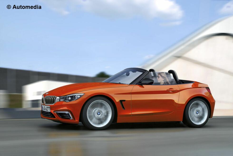 Automedia tror den kommende roadsteren fra BMW vil hete Z2, og at den skal se omtrent slik ut. Mange BMW-entusiaster vil nok la seg forferde over at den blir forhjulsdrevet. Foto: Automedia
