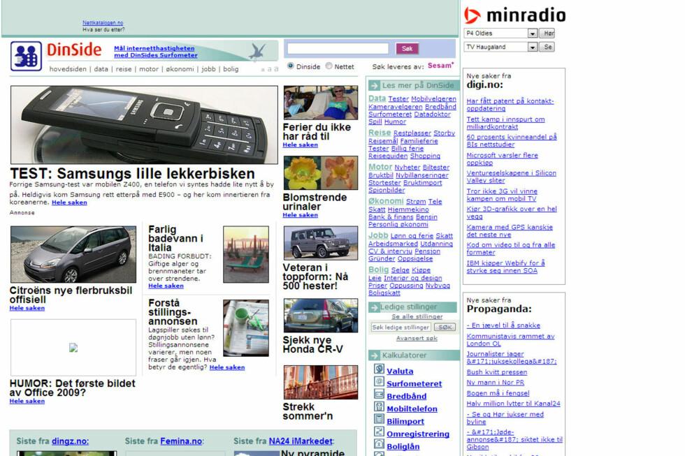 DinSide.no, 2006. Foto: Ole Petter Baugerød Stokke