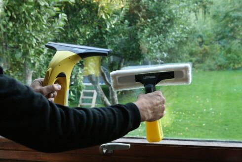 Vår tester kjøper gjerne vindusvaskemaskinen. Men ikke la deg forlede til å tro at den vasker mens du hviler. Foto: Einar Ryvarden