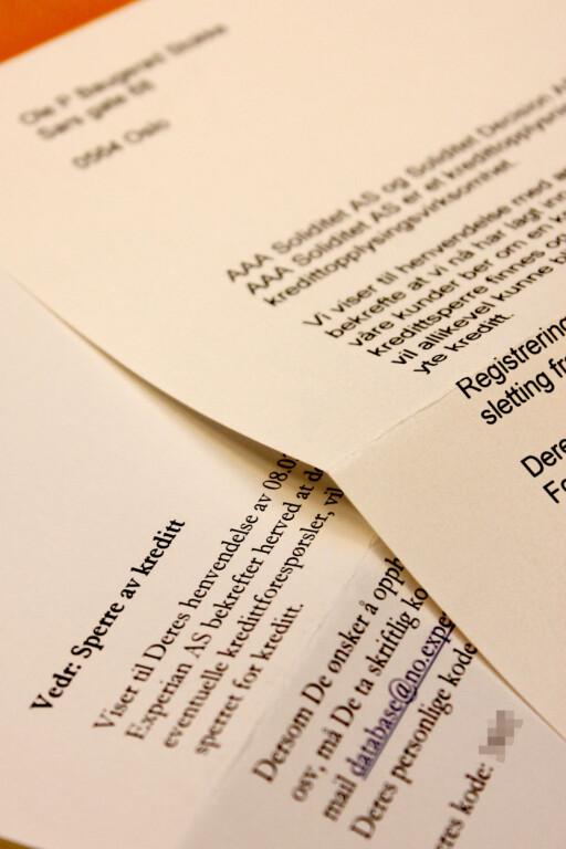 ORDNE OPP: Sperring av kreditt er et av de første stegene du burde ta etter et ID-tyveri.  Foto: Ole Petter Baugerød Stokke