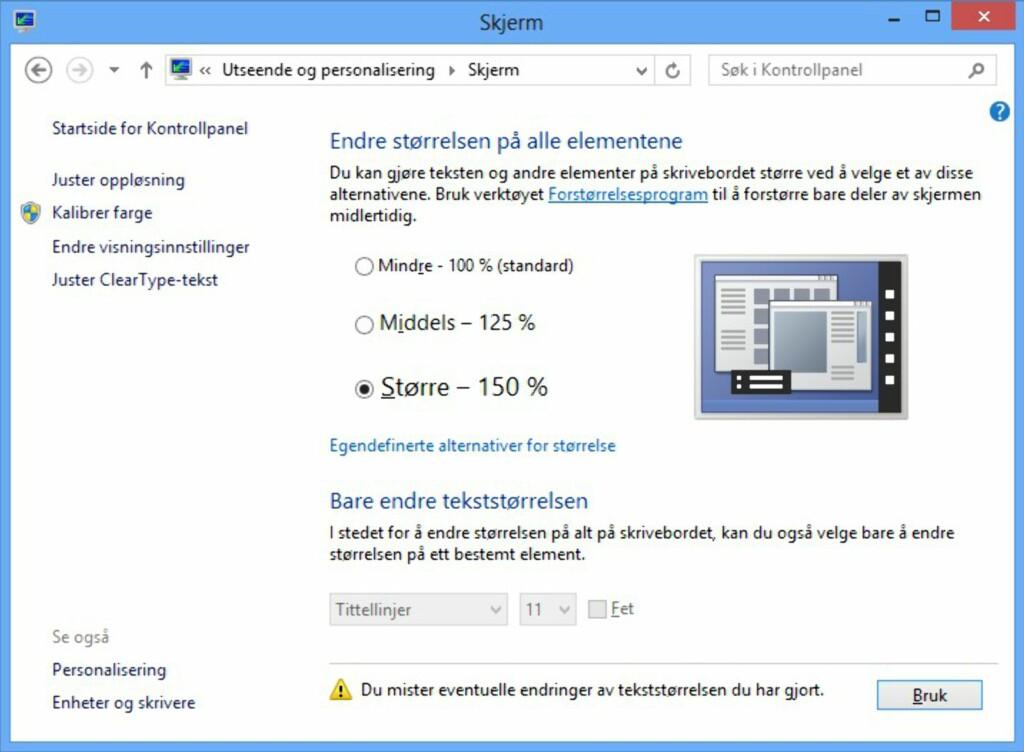 image: Øk størrelsen i Windows