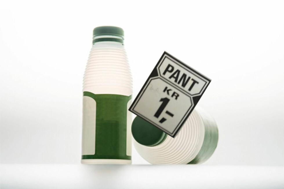 Det er såkalte HDPE-flasker som nå blir en del av panteordningen. Foto: Norsk resirk