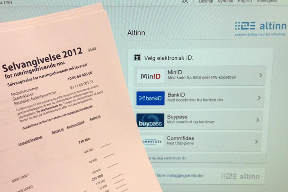 På Altinn kan du legge inn endringer og fradrag i selvangivelsen for 2012. Foto: Berit B. Njarga