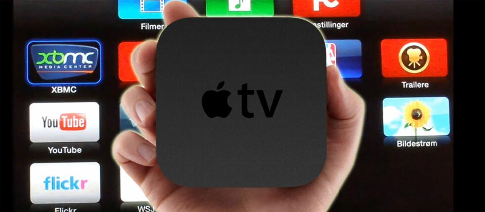 Med XBMC kan du streame filmer, musikk, nett-tv (for eksempel NRK) og mye mer via Apple TV. Og det er helt gratis. Foto: Apple