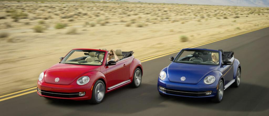 Volkswagen Beetle Cabriolet er årets kanskje største kabriolet-nyhet i de lavere prisklassene Foto: Volkswagen