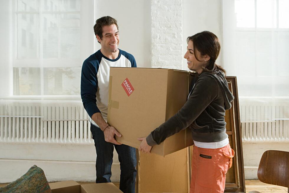 Flytt gjerne inn hos kjæresten. Men sørg for at du også får din del av verdistigningen for deres felles hjem.  Foto: Colourbox