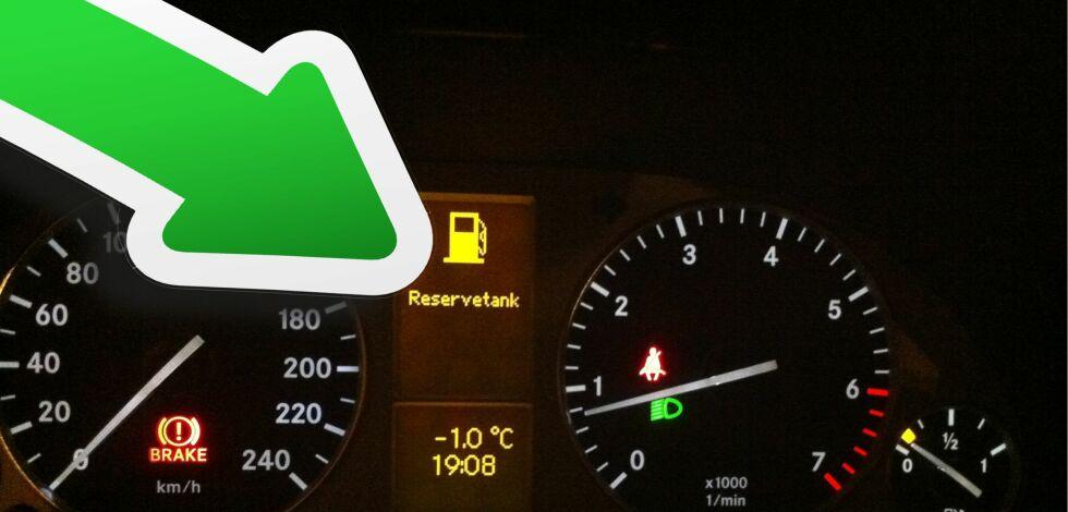 image: Ikke parker med nesten tom tank i kuldegrader