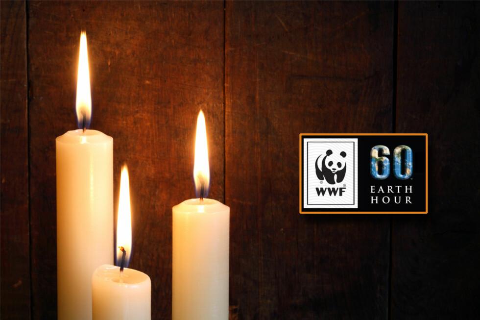 I kveld slukker verden det elektriske lyset. Slik får du dine levende lys til å vare ekstra lenge.  Foto: Colourbox/Earth Hour