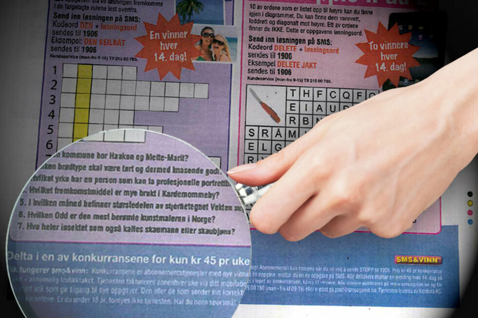 Forbrukerombudet har tidligere fått mange henvendelser fra folk som føler seg lurt av sms-tjenester.  Foto: Ole Petter Baugerød Stokke/Forbrukerombudet