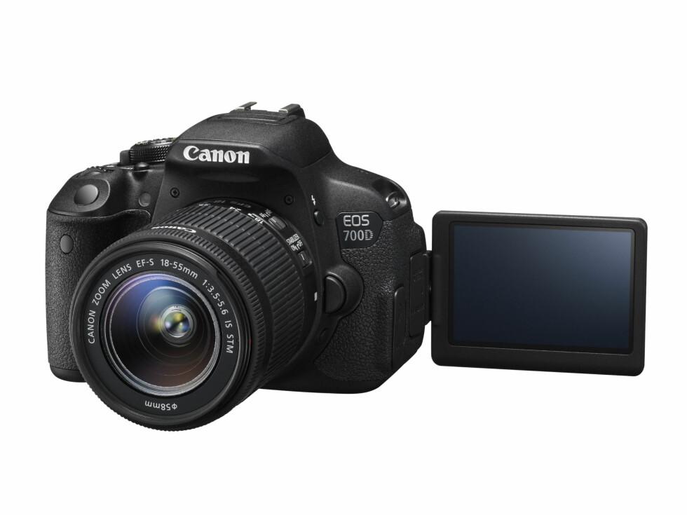 EOS 700D med utbrettbar skjerm Foto: Canon