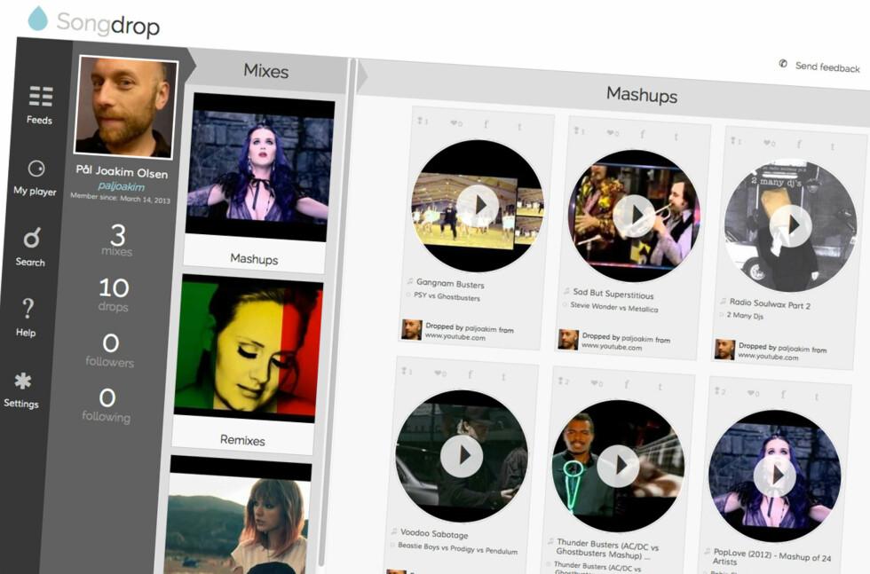 Songdrop lar deg spare på musikkvideoer og sanger du finner rundt på nettet.