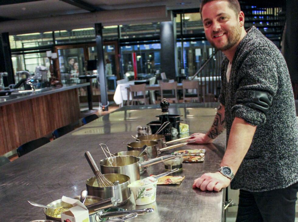 Kjøkkensjef Jan Dahdji ved restauranten Grilleriet i Oslo. Foto: Elisabeth Dalseg