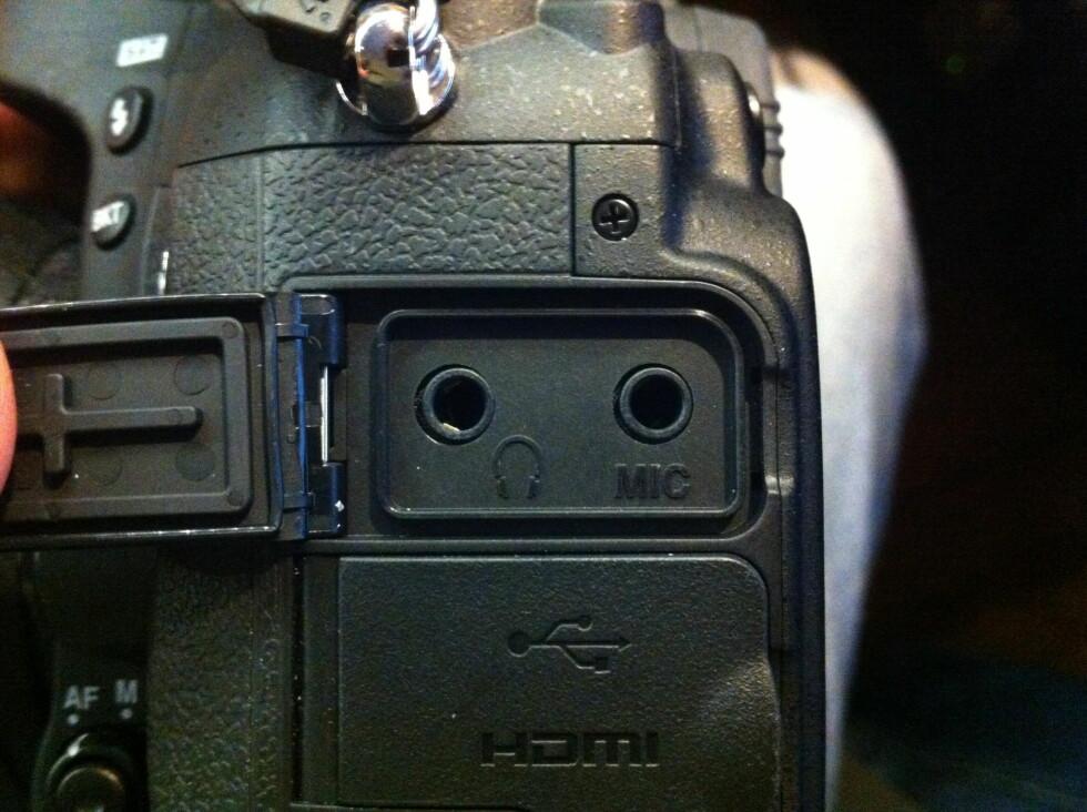 Mikrofoninngangene er ikke tilpasset generelle mikrofoner. Foto: Brynjulf Blix
