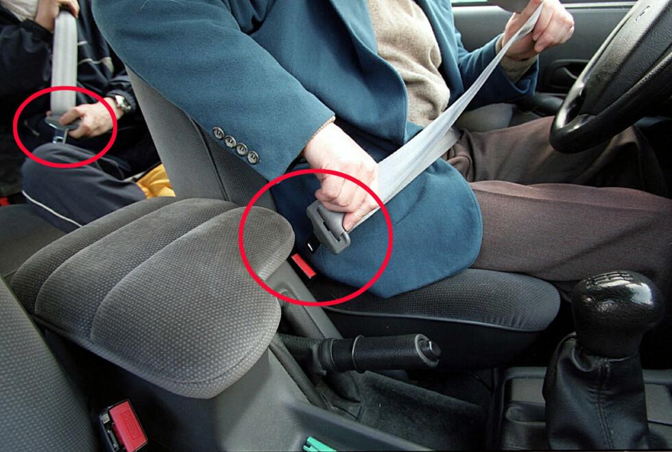 Sjekk både foran og bak - bilbelter er dumt å droppe, farlig å glemme og dyrt å bli tatt for å ikke bruke. Foto: Colourbox.com