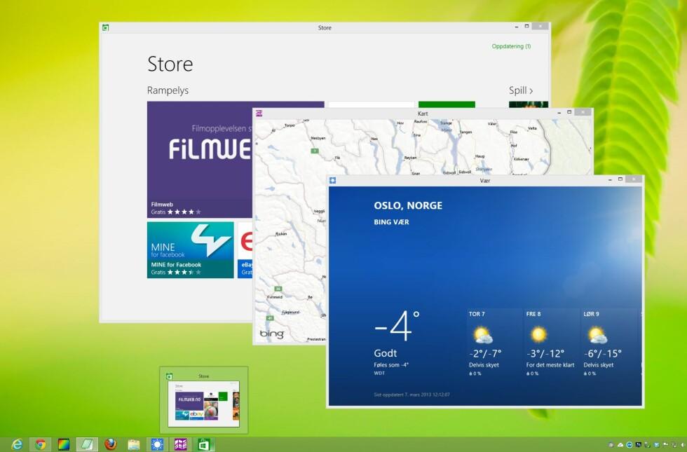 Nå kan du kjøre apper i vinduer, og få dem til å oppføre seg som helt vanlige Windows-programmer.