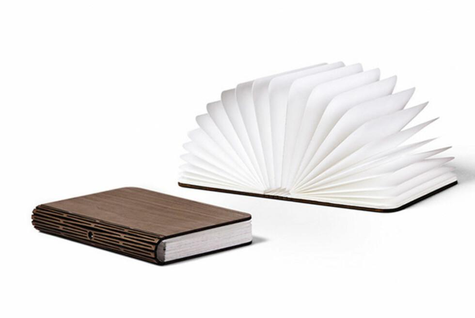 Lumio ser ut som en bok, men er egentlig en lampe. Foto: Produsenten