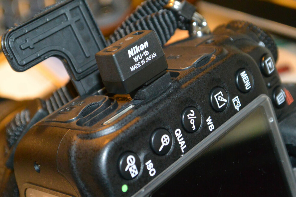 Senderen plassert i Nikon D600. Foto: Brynjulf Blix