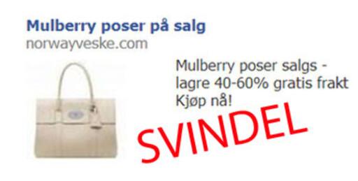 Ligg unna: Denne butikken som annonserer på Facebook bør du holde deg langt unna. Foto: Tuva Moflag