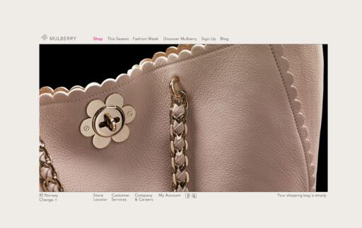 Originalen: Bruker du nettadressen www.mulberry.com kan du være sikker på at du har kommet til riktig sted.