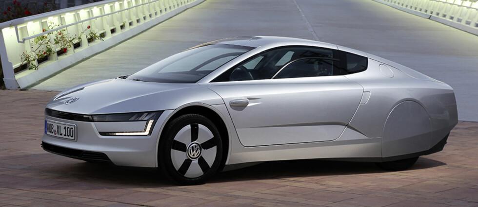 XL1 får et mildt sagt særegent utseende Foto: Volkswagen