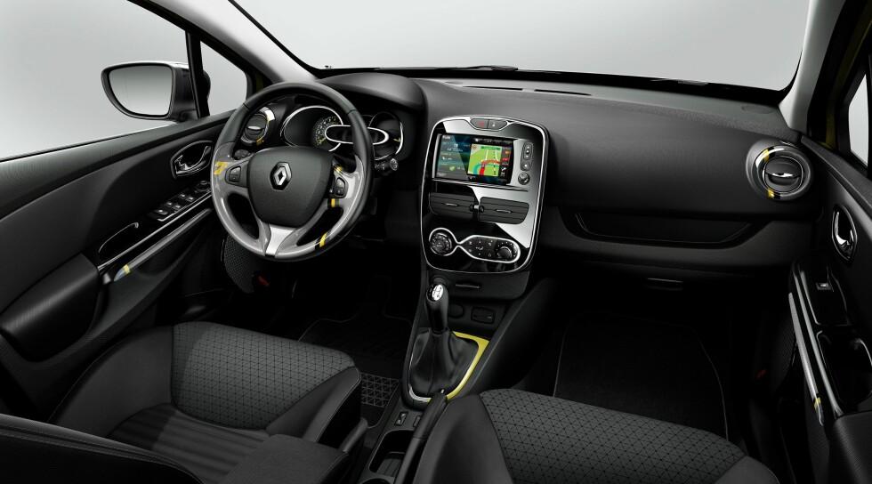 Moderne interiør i nye Renault Clio Sports Tourer. Kvaliteten på materialer og design overbeviste oss da vi testet Clio i kombi-versjon. Foto: Renault