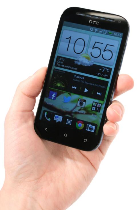 <strong>JA, JA:</strong> HTC One SV kjører Sense-grensesnittet som alle andre HTC-Android-er. Nå begynner vi å gå litt lei.  Foto: Ole Petter Baugerød Stokke