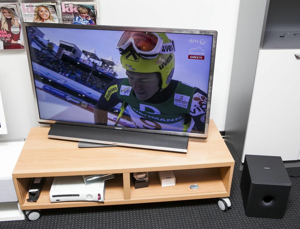 Den beste TVen, men vi hadde hoppet over lydplanken. Foto: Per Ervland