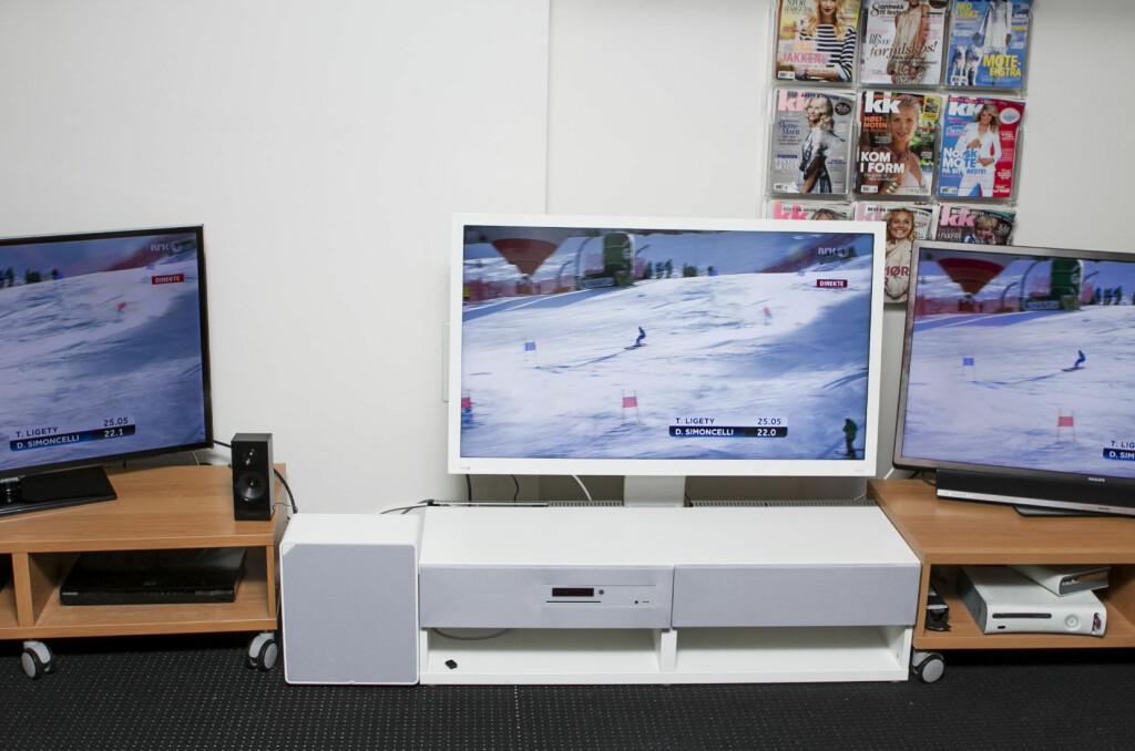 Ikea-TVen ser pen ut i hvitt. Holder den mål? Det får du svaret på her. Foto: Per Ervland