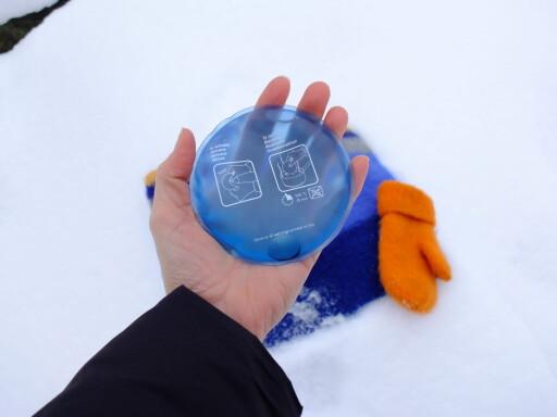 Gjenbruks-varmeputer fra asaklitt. Foto: Kristin Sørdal