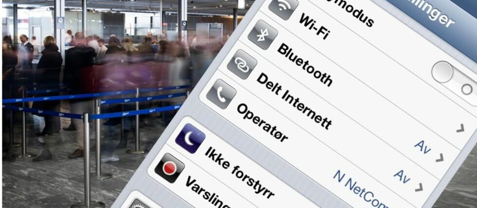 Kømålingene i sikkerhetskontrollen på OSL baserer seg på blåtannregistreringer. Du får mer nøyaktige anslag på ventetiden jo flere som skrur den på! Foto: OSL/Kristin Sørdal