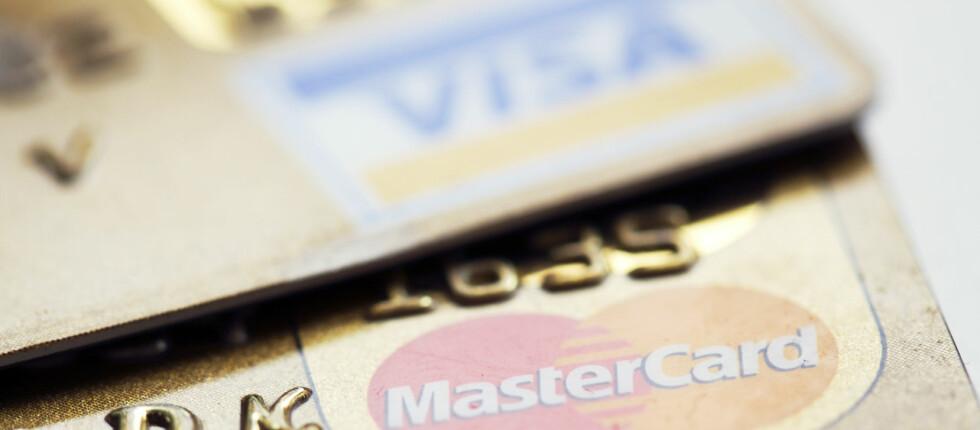 Bruk av kredittkort kan gi gode rabatter, men betaler du ikke regningen fra kortselskapet i tide, går gjerne vinningen opp i spinningen. Foto: COLOURBOX