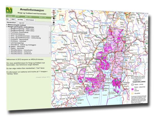 På NGUs nettsider kan du sjekke om du bor i et utsatt område. Foto: NGU