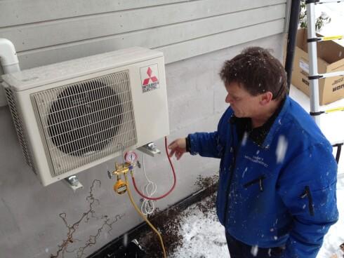 Fra høsten av må du få profesjonell hjelp til å installere varmepumpe. Foto: Tuva Moflag