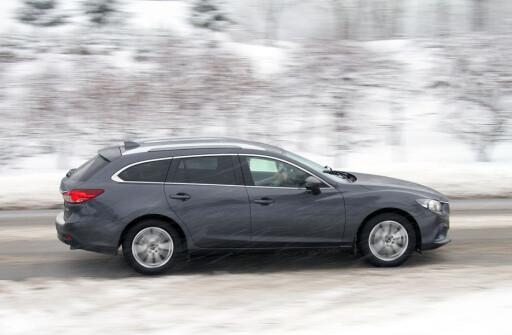 I FREMGANG: Nye Mazda 6 hjalp Mazda til å forsterke sin posisjon i januar. Foto: Fred Magne Skillebæk