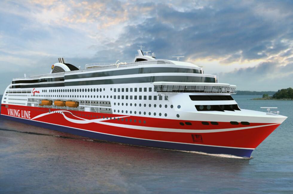 M/S Viking Grace sine gjester vil se noen endringer i taxfree-salget om bord. Foto: Rederiet