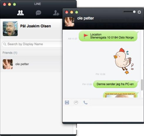 Line har også klienter for Windows og OS X.