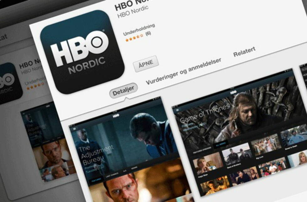 Endelig ser det ut til at AirPlay-muligheten på HBO Nordics iOS-app nærmer seg. Foto: Øyvind P