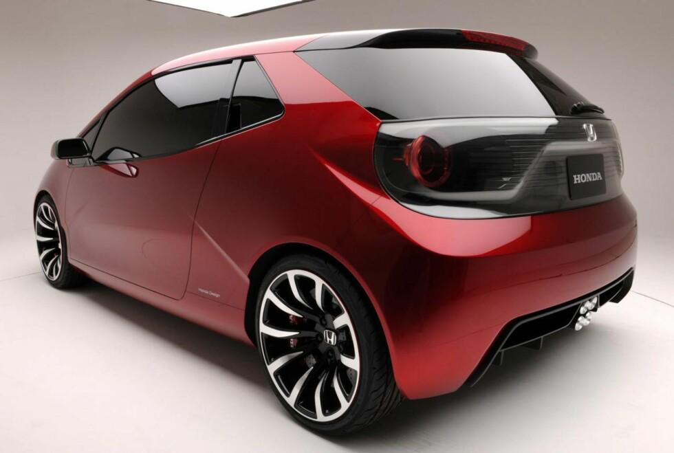 Spenstige takter fra Honda. Vi liker det vi ser når vi beskuer designstudien Honda Gear - både forfra, bakfra og fra siden. Om man liker den eller ikke: Dette er markant og stilsikkert. Står vi foran en ny gullalder, eller er det et blaff? Foto: Honda