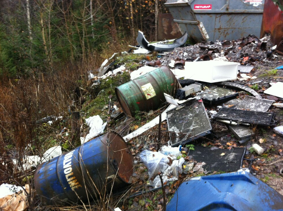Avfallsoppbevaring. Foto: Fylkesmannen i Østfold/Klif