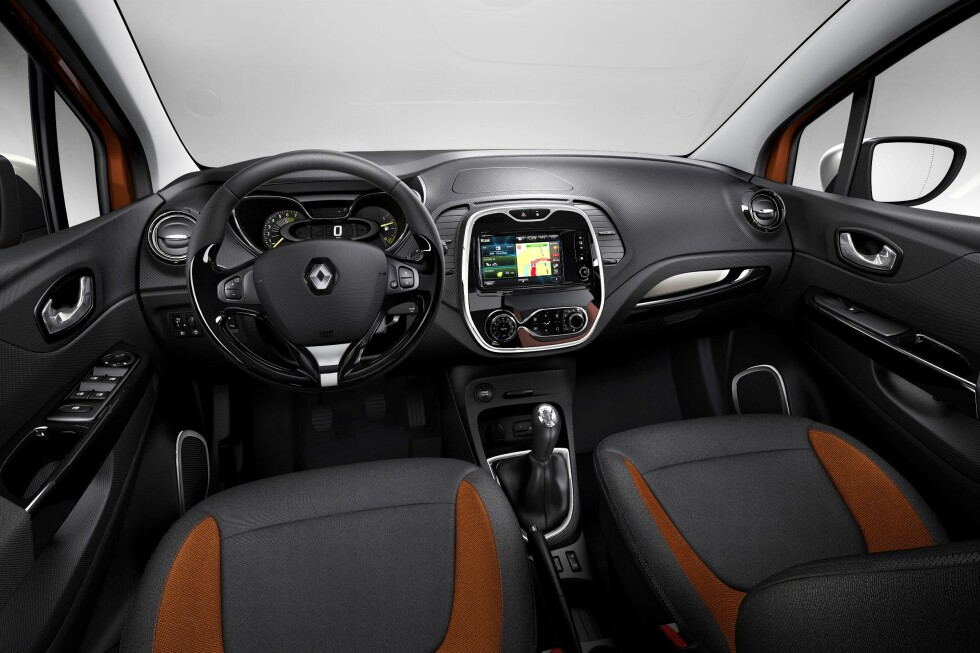 Slik ser interiøret i Renault Captur ut. Foto: Renault