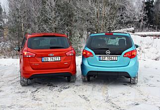 Ford B-Max mot Opel Meriva
