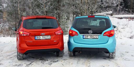 image: Ford B-Max mot Opel Meriva
